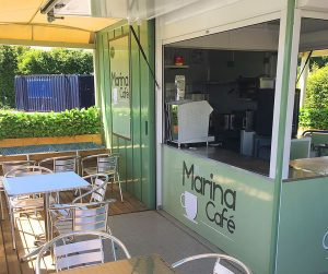 marina cafe serving counter