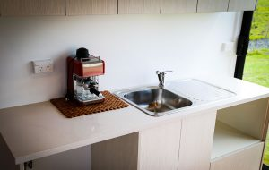 fitted kitchen shipping container home