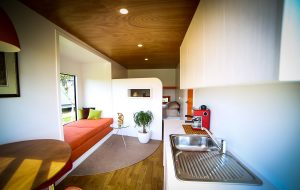large container house kitchen area