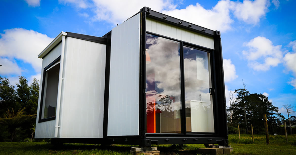 shipping container home design fb