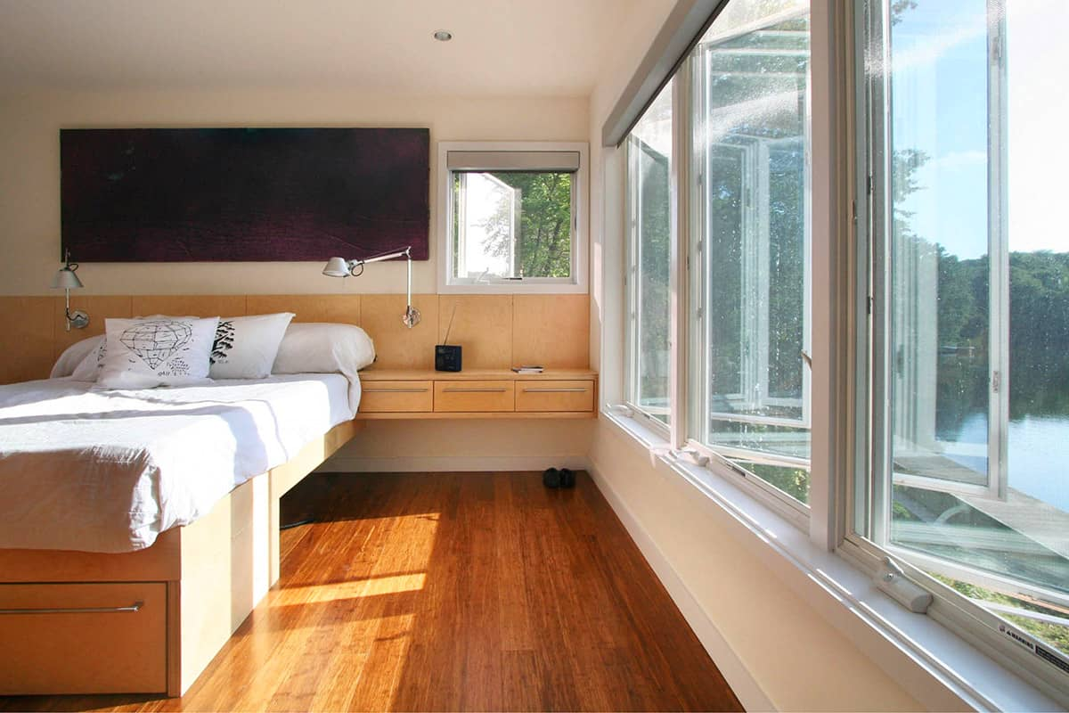 master bedroom shipping container house