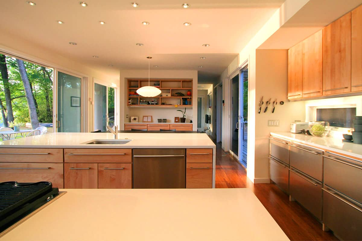 modern modular home house kitchen