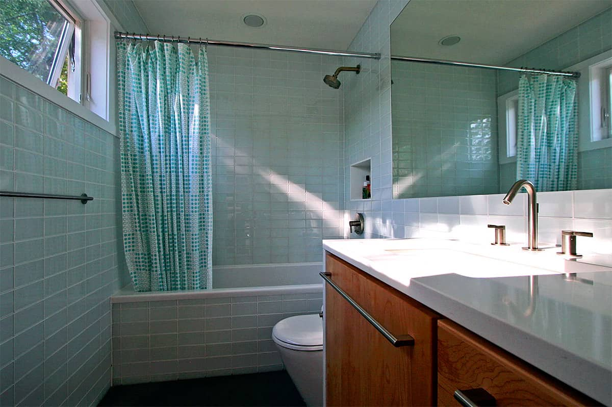 Holiday home built with shipping containers for Shipping container public bathroom