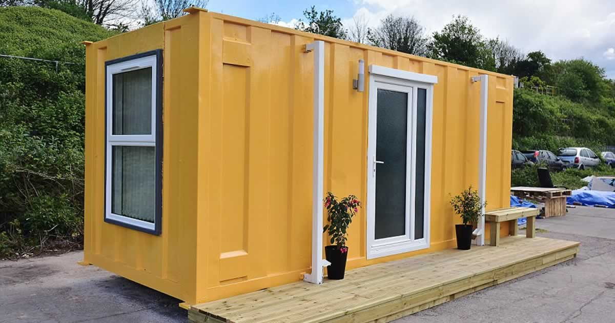 Shipping container converted into luxury apartments - Shipping containers converted into homes ...