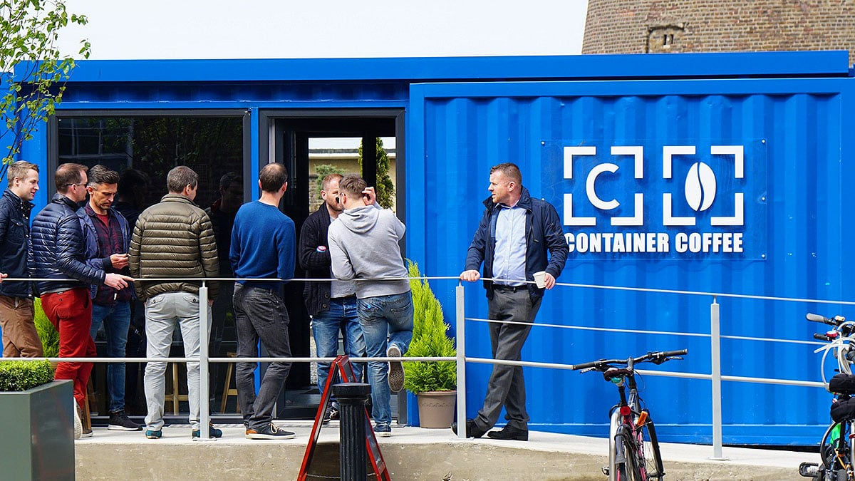 container coffee open day