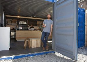 The Container Coffee Café is open for business