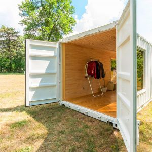 mobile clothes boutque shipping container conversion