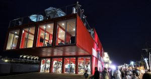 experiential shipping container complex puma city