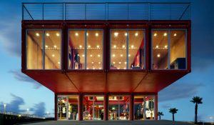 stunning retail complex recycled shipping containers