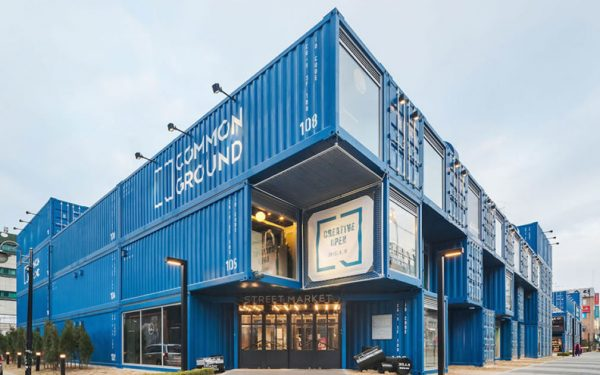 Common Ground Shopping Centre, built entirely with 200 Shipping Containers