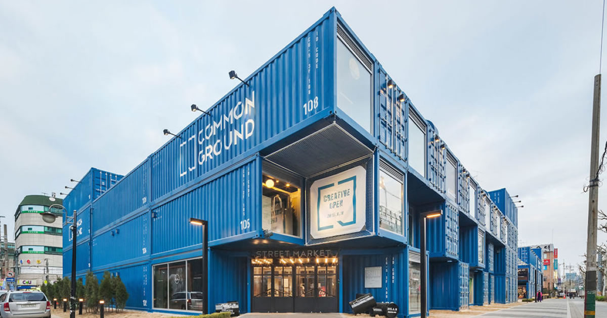 shipping container shopping centre entrance fb