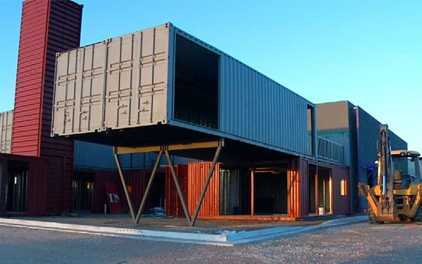New Shipping Container Retail Centre in Texas