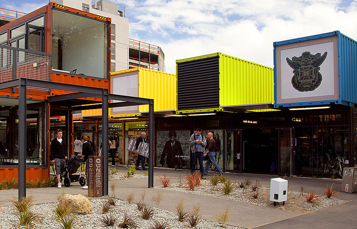 Makeshift Shipping Container Shops In Christchurch Nz