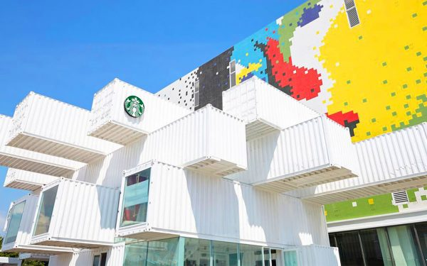 Starbucks Shipping Containers Drive-Thru