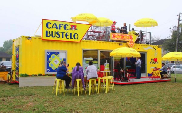 café bustelo shipping container conversion