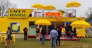 café bustelo shipping container conversion customers