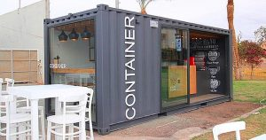 cheap shipping container cafe