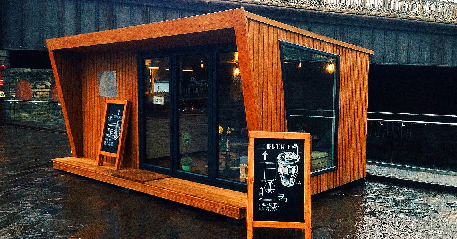 mobile shipping container cafe