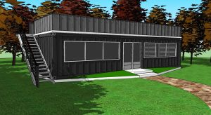 3d model services shipping container offices
