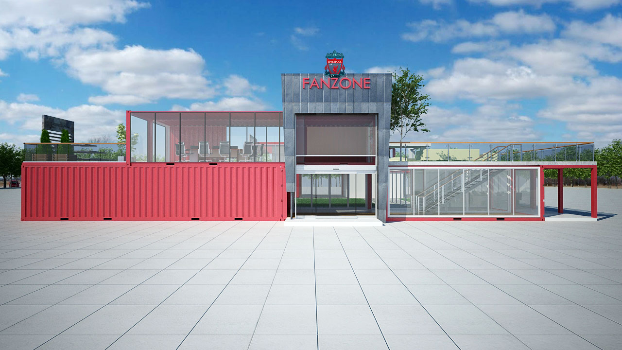 liverpool fanzone shipping container concept