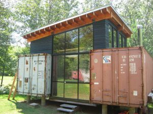 early shipping container conversion