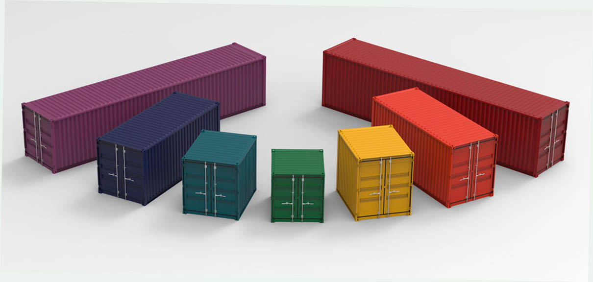 modern shipping container sizes