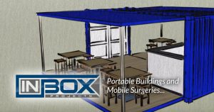 portable building blue pop up fb