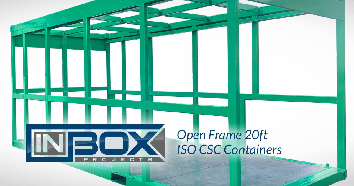 green open frame shipping container ft