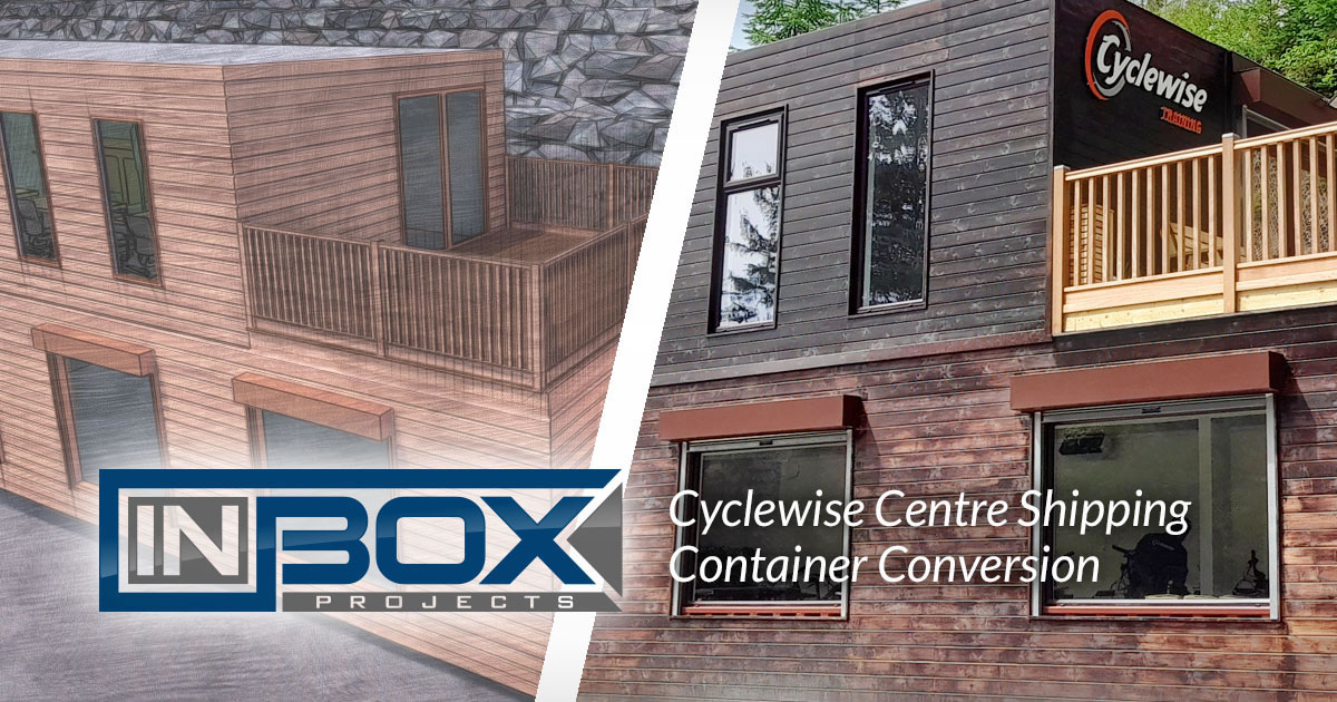 cyclewise shipping container converstion