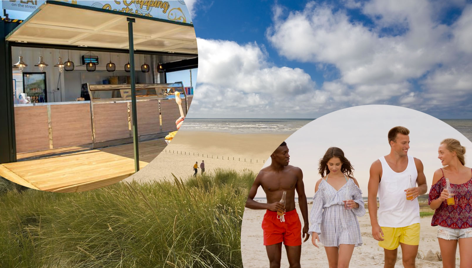 pop-up shipping container beach bar