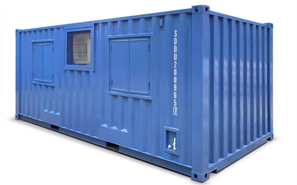 40ft blue shipping container laboratory